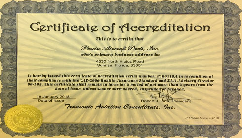 TAC-2000 Certificate of Accreditation